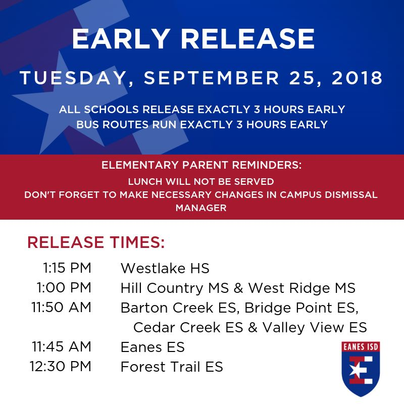Early Release, Sept 25