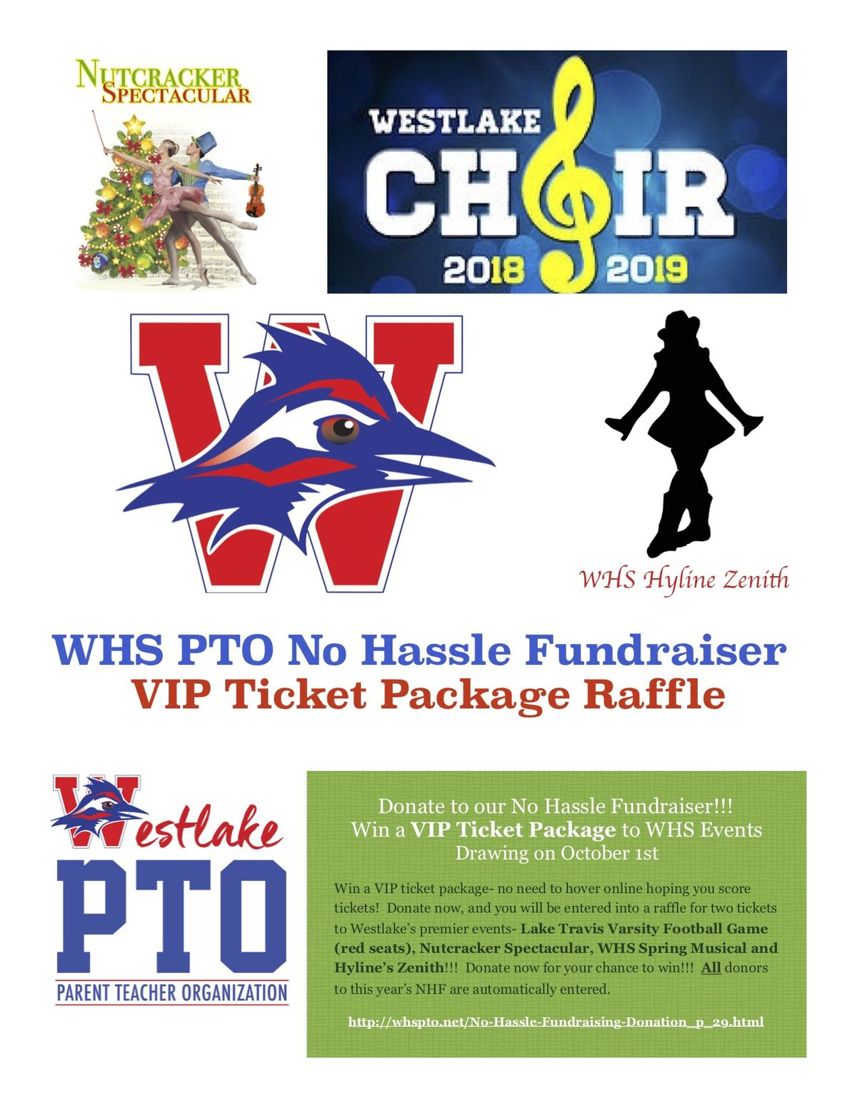 WHS PTO No Hassle Fundraiser VIP Ticket Package Raffle